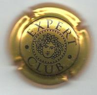 Plaque / Capsule De Muselet - Expert Club [noir Sur Or] - Capsules