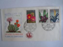 België Belgium 1965 FDC Exposition Fleurs Bloemen Cactus Gentse Floraliën Floralies Gantoises III Cob 1315-1317 - FDC