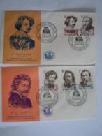 België Belgium 1965 FDC Schilders Peintres P.P. Rubens Frans Snyders Van Noort A. Van Dijck J. Jordaens Cob 1322-1326 - FDC