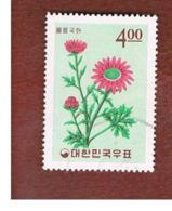 COREA  DEL SUD (SOUTH KOREA)   - SG 580  -     1965  KOREAN PLANTS: CHRYSANTHENUM LUCDUM    - USED ° - Corea Del Sud