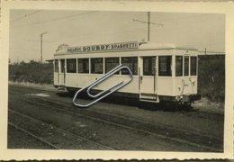"TRAM  19454 : Oostende-Ostende Remorque Provenant Des Anciennes Motrices ' BOGOTA "" 9623 A 9658      ( 9 X 6 Cm) 1956 - Photos"