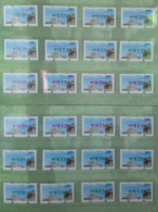 Set Collection-Black, Red & Green Imprint Of 2019 Formosan Serow ATM Frama Stamps  - Goat Mount Unusual - Oddities On Stamps