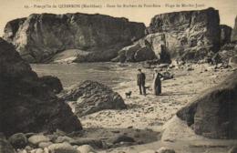 PRESQU'ILE DE QUIBERON (Morbihan) Dans Les Rochers De Port Bara Plage De Mnhir Jacob  RV - Francia