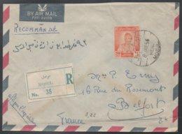 IRAQ - IRAK - MOSUL - MOSSOUL / 1956 LETTRE AVION RECOMMANDEE POUR LA FRANCE - BELFORT (ref LE548) - Irak