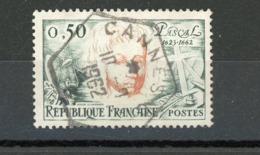 FRANCE - PASCAL - N° Yvert 1344 Obli. HEXAGONAL DE CANNES C 1962 - France