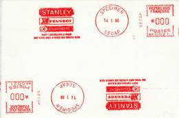 FRANCE - 1986 - SPECIMEN SECAP - Peugeot, Stanley, Goldenberg, Tout L'outillage à Main Qui Vous Aide... - France