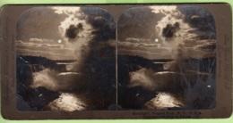 ETATS UNIS : Les Chutes Du NIAGARA Par Clair De Lune - USA - Photo Stéréoscopique  - Lire Descriptif - Photos Stéréoscopiques