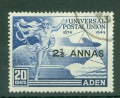 Aden: 1949   U.P.U.   SG32   2½a N 20c  Used - Aden (1854-1963)