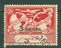 Aden: 1949   U.P.U.   SG33   3a N 30c  Used - Aden (1854-1963)