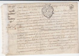 Nantes / Reconnaissance De Dette Sur Parchemin Boulanger, Paroisse De Sainte-Croix / Juillet 1775 - Cachets Généralité