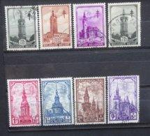 BELGIE  1939    Nr. 519 - 526     Gestempeld   CW  25,00 - Oblitérés