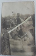 1914 Défence Anti Aérienne DCA FLAK DAT Canon 75 Mm Débouchoir Poilu 1914 1918 WW1 14/18 1WK - Guerra, Militari