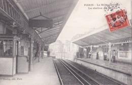 PARIS XII  Intèrieur De La STATION De METRO BEL AIR Les Quais La Cabine Du Chef De Station Animation Timbre 1909 - Distretto: 12