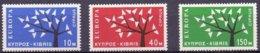 Cept 1962 Chypre Cyprus Zypern Yvertn° 207-09 (*) MLH - Europa-CEPT