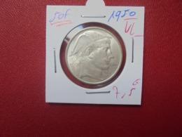 Régence :50 FRANCS ARGENT 1950 VL BELLE QUALITE (A.10) - 05. 50 Francs
