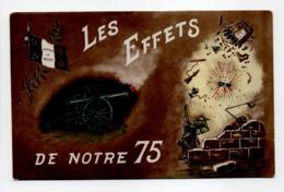 - CPA MILITAIRES - LES EFFETS DE NOTRE 75 - Edition Fratelli-Diena - - Matériel