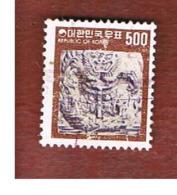 COREA  DEL SUD (SOUTH KOREA)   - SG 1069e  -     1978 CARVED DRAGON     - USED ° - Corea Del Sud