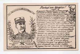 - CPA MILITAIRES - Général GALLIENI - Fluctuat Nec Mergitur ! - - Characters