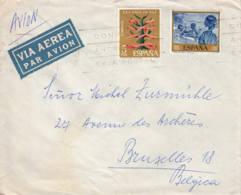 ESPAGNE - Lettre Par Avion Pour Bruxelles - 1931-Oggi: 2. Rep. - ... Juan Carlos I