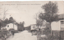 LE NIZAN-barriére Du Chemin De Fer-route De Villandrant.1929. - Autres Communes