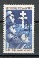 FRANCE - 25 ANS DE BIR-HAHEIM - N° Yvert 1532 Obli. Ronde De LAON 1968 - France