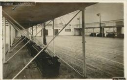 PAQUEBOT - L'atlantique, Le Tennis.(carte Photo) - Paquebots