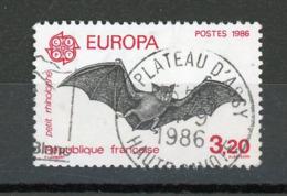 FRANCE - EUROPA - CHAUVE SOURIS - N° Yvert 2417 Obli. Ronde De PLATEAU D'ASSY 1986 - France