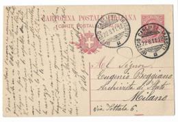 UFFICIO CAGLIARI TRANSITI - PER MILANO. - 1900-44 Vittorio Emanuele III