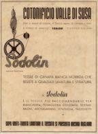 PUB 397 - PUBBLICITA' COTONIFICIO VALLE DI SUSA - 1940 - Pubblicitari