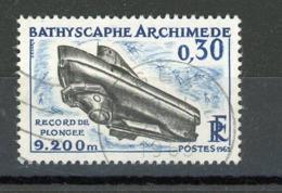 FRANCE - BATHYSCAPHE ARCHIMEDE - N° Yvert 1368 Obli. Ronde De GEX 1963 - France