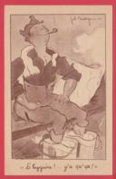 CPA 1940  Illustrateur  Joë BRIDGE - Humour Militaire - L'Hygiène ! ..y'a Qu'ça ! 2 SCAN - Andere Illustrators