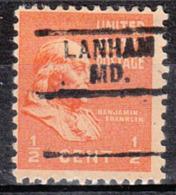 USA Precancel Vorausentwertung Preo, Bureau Maryland, Lanham 729 - Vereinigte Staaten