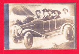 Fant-789Ph79   Photo Montage, 3 Femmes Et 2 Hommes Dans Un Vieux Tacot, Cpa BE - Fancy Cards