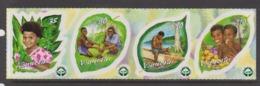 Vanuatu Scott 808a-d 2002 Reforestation,Mint Never Hinged - Vanuatu (1980-...)