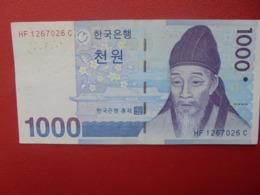 COREE(SUD) 1000 WON 2007 PEU CIRCULER  (B.2) - Corée Du Sud