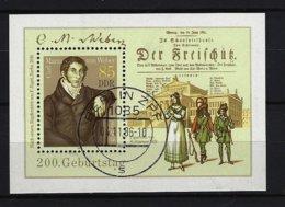 DDR - Block Nr. 86 - 200. Geburtstag Von Carl Maria Von Weber Gestempelt BERLIN - Blocks & Kleinbögen