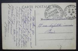 Saint Etienne 1915 (Loire) 38 Eme Régiment D'infanterie Service Postal Dépôt Cachet Sur Cpa De Montrond - Marcofilie (Brieven)