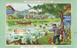 Illustrateur CHOCOLAT LOMBART La Fete Au Village  La Course Au Cochon RV - Cochons
