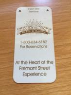 Hotelkarte Room Key Keycard Clef De Hotel Tarjeta Hotel   LAS VEGAS FREEMONT Small One Of The First Room Keys - Télécartes