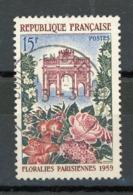 FRANCE -  FLORALIE - N° Yvert  1189 Obli. Ronde De BOURG EN BRESSE 1959 - France