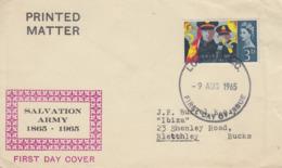 Enveloppe  FDC  1er  Jour   GRANDE  BRETAGNE    ARMEE  DU  SALUT    1965 - 1952-1971 Em. Prédécimales