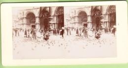 ITALIE -VENISE 1904 - Place Saint Marc Et Les Pigeons - Photo Stéréoscopique - Lire Descriptif - Fotos Estereoscópicas