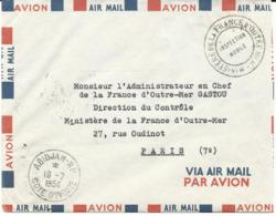 LETTRE 1954 AVEC CACHET D'ABIDJAN ET CACHET DE FRANCHISE MINISTERE DE LA FRANCE D'OUTRE MER INSPECTION MOBILE - Lettres & Documents