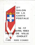 Cp, Bourses & Salons De Collections, 2 E Salon De La Carte Postale ,1983 , CHOLET ,  Vierge - Bourses & Salons De Collections