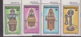South Africa-Bophuthatswana SG 108-111 1983  History Of The Telephone,Mint Never Hinged - Bophuthatswana