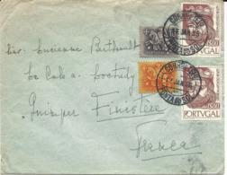 LETTRE 1956 POUR LA FRANCE AVEC 4 TIMBRES - Ungebraucht