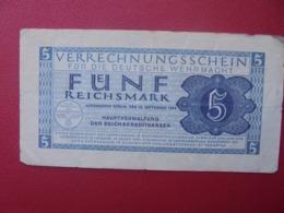 3eme REICH 5 MARK 1944 CIRCULER (B.5) - [ 4] 1933-1945 : Third Reich