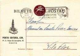 PORTUGAL -  1962 - Carte Postale (entier) Commerciale De Porto Pour Vila Flor - Postwaardestukken