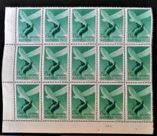 FONDATION AERIENNE HORTHY 1943 - BLOC DE QUINZE NEUF ** - YT PA 53 - MI 731 - COIN DE FEUILLE - Ongebruikt