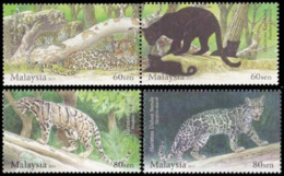 Malaisie Malaysia 1704/07 Félins, Panthère, Ocelot - Big Cats (cats Of Prey)
